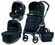 Коляска 3 в 1 Peg-Perego (Пег-Перего) Book 51 Pop Up Luxe Blue Night (2017) шасси Jet